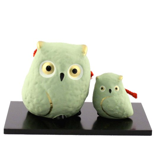 Owl Bell  Parent and child (green)