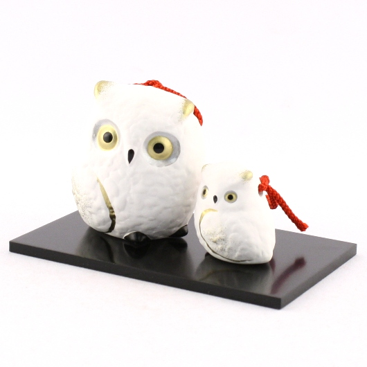 Owl Bell  Parent and child(White)