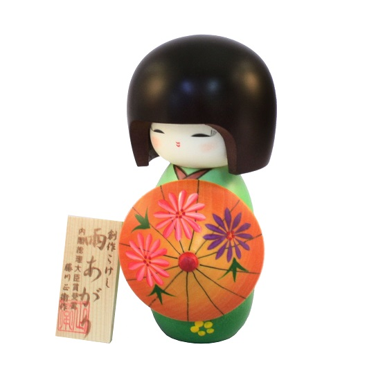 Kokeshi Ameagari Green sample1