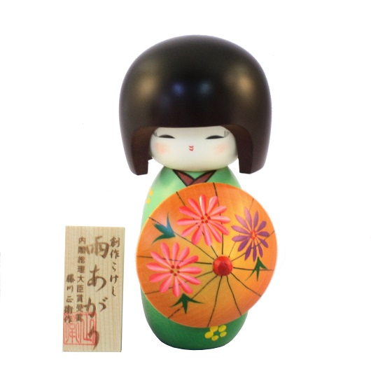 Kokeshi Ameagari Green sample2