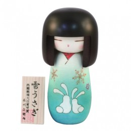 Kokeshi Yukiusagi Blue sample2