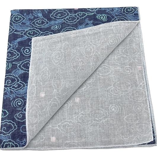 Handcarchief  dragon navy