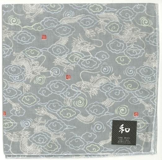 Handcarchief dragon gray sample1