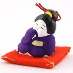 土鈴 お福さん (紫)