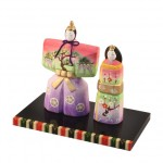 Standing hina doll  colorful