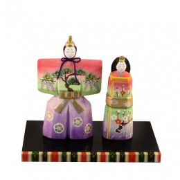 Standing hina doll  colorful sample2