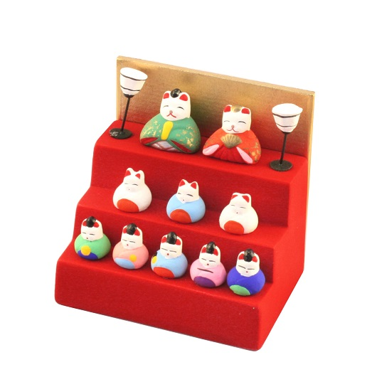 MIni cat hina doll with steps
