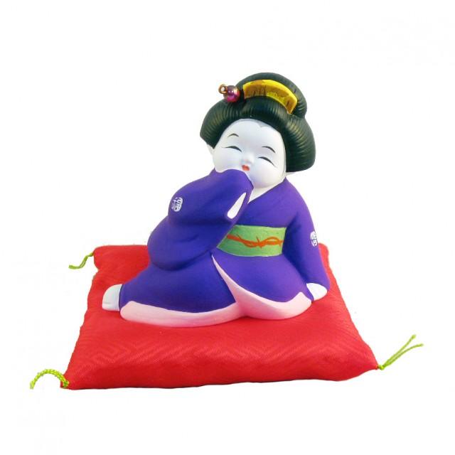 おぼこお福さん(紫)