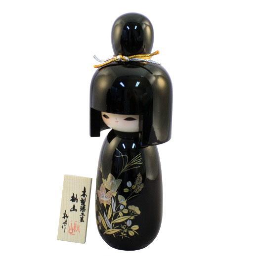 Urushi Kokeshi Momoyama Black