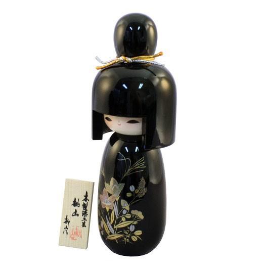 Urushi Kokeshi Momoyama Black sample1