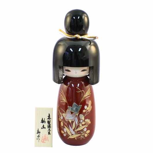 Urushi Kokeshi Momoyama Red