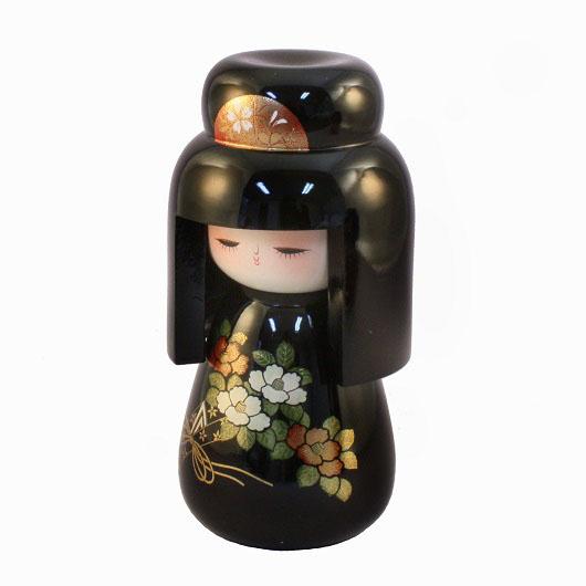 Urushi-Kokeshi Hatsukoi Black