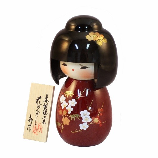 Urushi-Kokeshi Hanakanzashi Red sample1