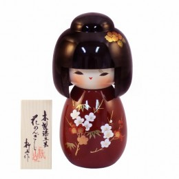 Urushi-Kokeshi Hanakanzashi Red sample2