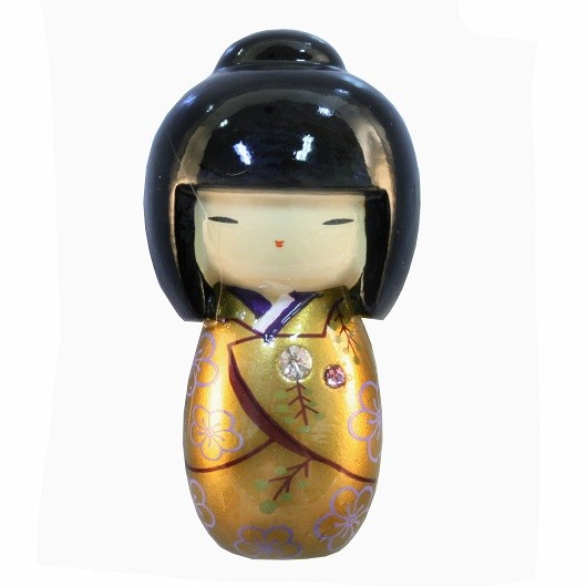Magnet Kokeshi Gold sample1
