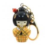 Kokeshi Keyring Kasuri Yellow