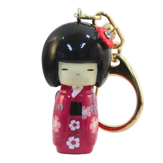 Kokeshi Keyring Furisode Pink(Flower) sample1