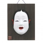 Mask Onna with wooden plate