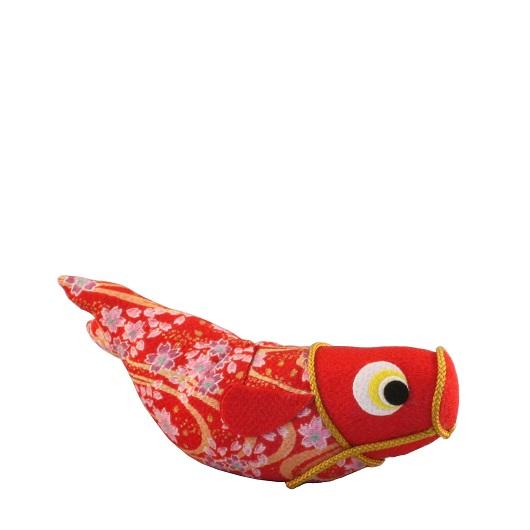 ちりめんのぼり鯉 赤
