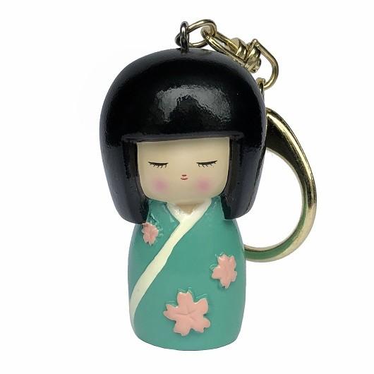 Kokeshi Keyring Sakuradoki Green sample1
