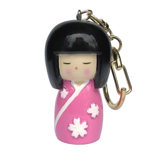 Kokeshi Keyring Sakuradoki Pink