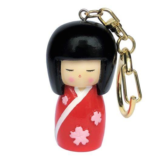 Kokeshi Keyring Sakuradoki Red sample1