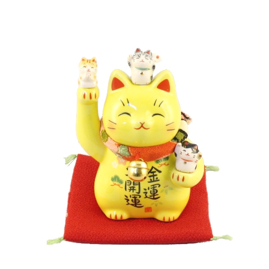 Yellow lucky cat sample2