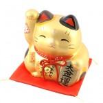彩耀大福招き猫(大金運・特大) 貯金箱
