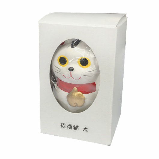 Lucky Cat  L  White