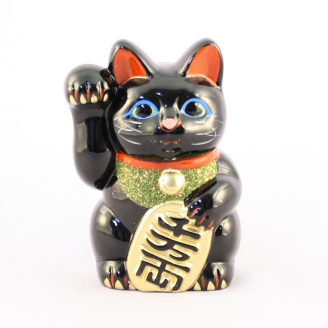 Lucky Cat Black Right Hand No.6