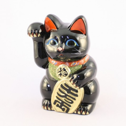 Lucky Cat Black Right Hand No.7