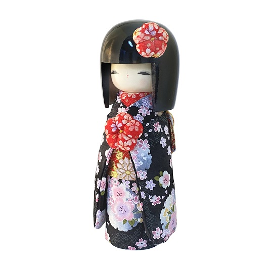 Kokeshi Kyo-Bijin(L)Black sample1