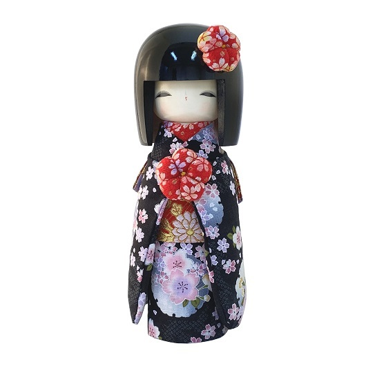 Kokeshi Kyo-Bijin(L)Black sample2