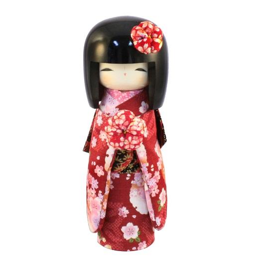 Kokeshi Kyo-Bijin(L)Red