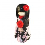 Kokeshi Kyo-Bijin (S)Black (RED)