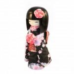 Kokeshi Kyo-Bijin (S)Black (PINK)