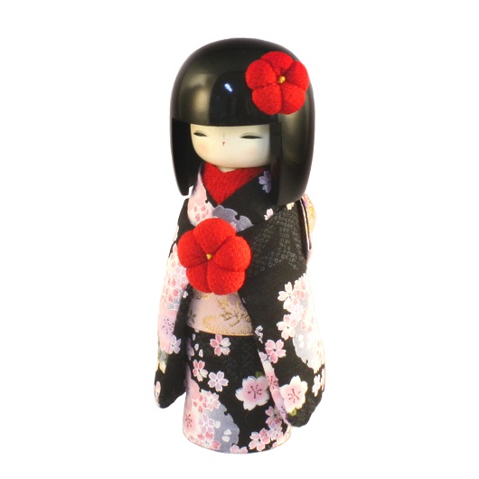 Kokeshi Kyo-Bijin (S)Black sample1