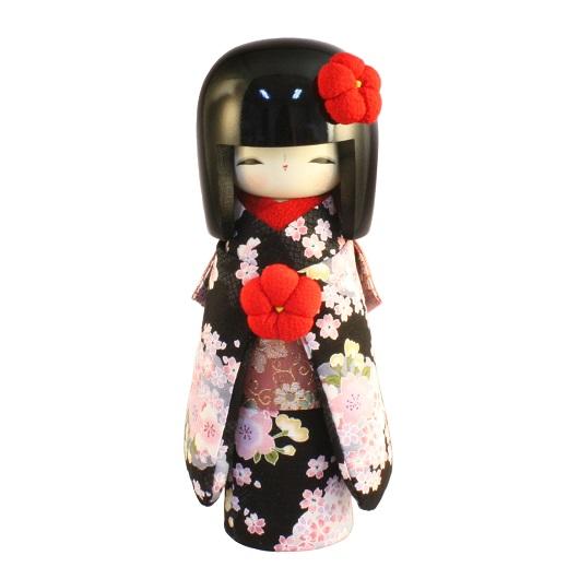 Kokeshi Kyo-Bijin (S)Black (RED)