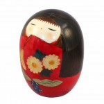 Kokeshi New Kikumusume Red