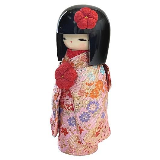 Kokeshi Kyo-BIjin Kinran(L)  Pink sample1