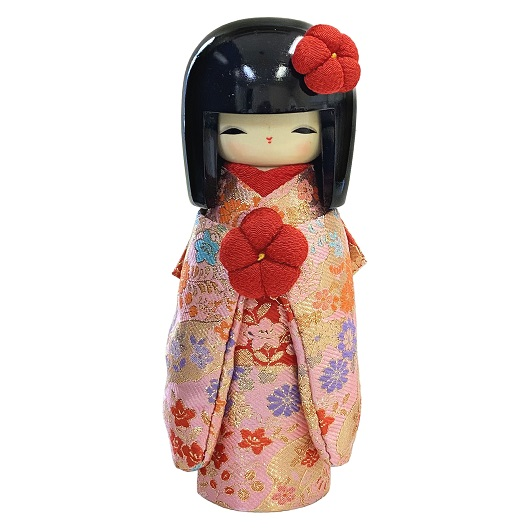 Kokeshi Kyo-BIjin Kinran(L)  Pink