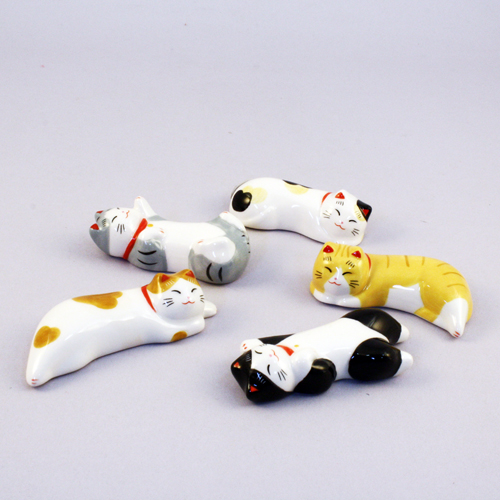 Cat Chopstick rest set sample1