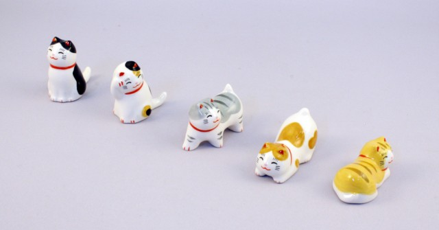 Cat Chopstick rest set sample2
