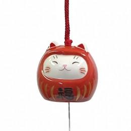Wind bell Cat-Daruma(Akafuku) sample2