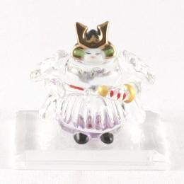 クリスタルガラス 磁器 童武者