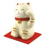 ちぎり和紙 おすまし招き猫 黒