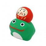蛙乗りだるま(赤)