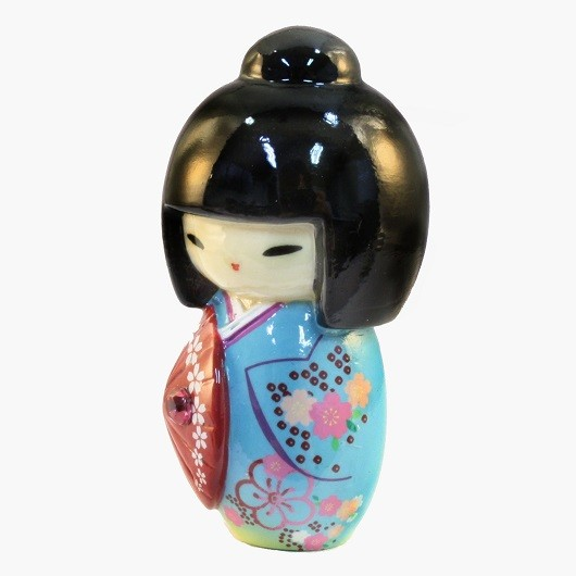 Kokeshi Doll Kasa Blue sample1