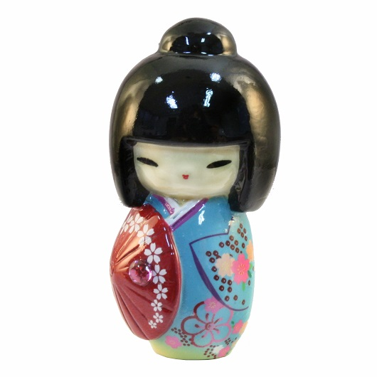 Kokeshi Doll Kasa Blue