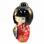Kokeshi Doll Kasa Red